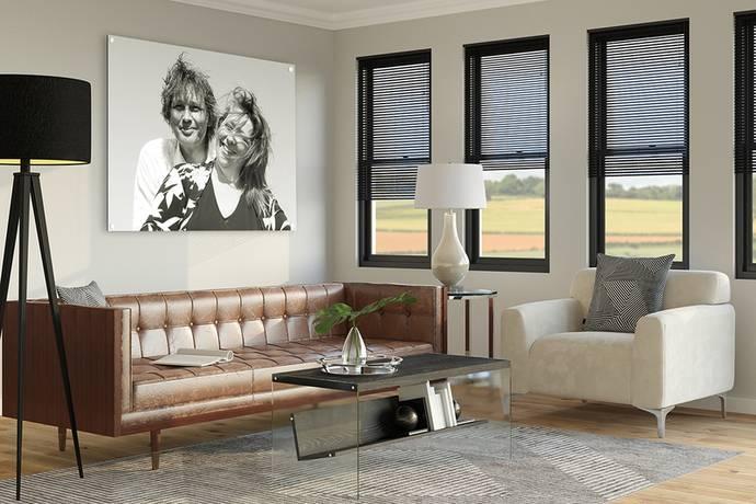 Aluminium foto voor in de woonkamer